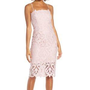 Bardot Lina Lace Midi Cocktail Dress
